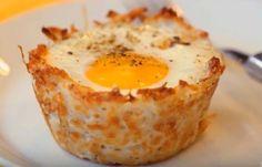 Omelette Denver : oeuf dans un nid de pomme de terre