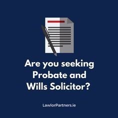 Are you seeking a probate & wills solicitor Dublin? Make your appointment with Lawlor Partners, a team of experts who provide individual tailored services to all the clients. Accident At Work, Medical Billing, Dublin, A Team, Workplace, Are You The One, Physics, Psychology, Advice