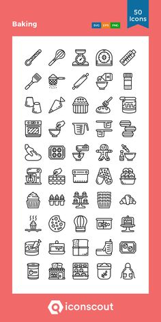 Baking Icon Pack - 50 Line Icons Doodle Icon, Doodle Art, Bakery Icon, Baking Logo, Cake Logo Design, Journal Fonts, Creative Poster Design, Doodle Lettering, Food Icons