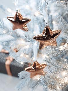Six Copper Glass Stars