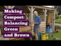 Compost Making, balancing green & brown or nitrogen & carbon - YouTube Garden Compost, Veg Garden, Easy Garden, Garden Ideas, Gardening For Beginners, Gardening Tips, How To Make Compost, Homestead Gardens, Soil Improvement