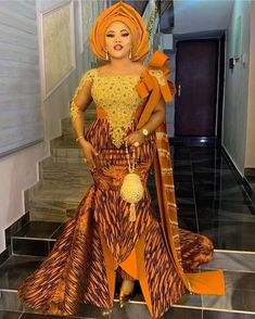 Hello Fashionable Ladies check out Amazing And Creative Latest 2020 Ankara long Gowns Styles Inspiration for you to try out and look Beautiful.Ankara styles Are Aso Ebi Lace Styles, Ankara Long Gown Styles, Lace Gown Styles, African Lace Styles, Trendy Ankara Styles, African Lace Dresses, African Clothes, Ankara Gowns, Dress Styles