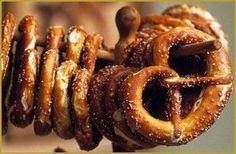 Recette pour 10 beaux bretzels: ♦Mélanger 500 gram...