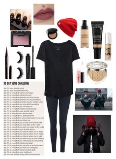 """Day 17, Stressed Out is played way too much ..."" by emo-kyleigh ❤ liked on Polyvore featuring Topshop, Madewell, Aéropostale, Christian Dior, Bare Escentuals, Lancôme, Sephora Collection, MAC Cosmetics, Marc Jacobs and Smashbox"