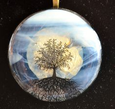 Full Moon Fused Glass Pendant.