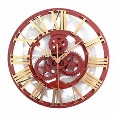 Horloge murale steampunk Anchor Bathroom, Industrial Clocks, Black Photo Frames, Steampunk, Pile Aa, World Clock, Trains, Buy Cactus