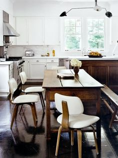 modern mix kitchen space - chairs