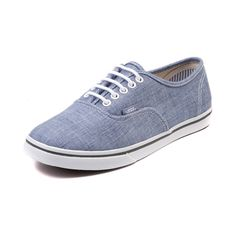 f7f9004ed0 Vans Authentic Lo Pro Chambray Skate Shoe Blue Vans Authentic Lo Pro