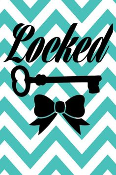 Locked screen background wallpaper iphone chevron teal bow key