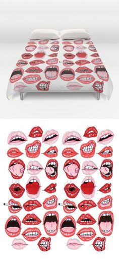 Lip Action duvet by Scoobtoobins