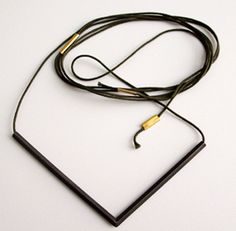 Paula Rodrigues  Necklace: Straight lines 2009  Silver 925