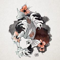 """Mi piace"": 79, commenti: 4 - Manuel (@doppiaemmegram) su Instagram: ""Koi fish #koifish #art #draw #ideas #graphicdesign"""