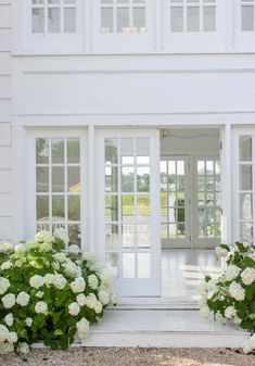 The Advantages of French Doors and Installation Tips – Home Dcorz Die Hamptons, Hamptons Party, Hampton Garden, Ideias Diy, White Cottage, Cabana, Windows And Doors, French Doors, French Windows