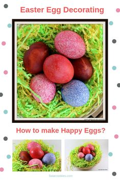 How to create happy eggs? 5 star cookies has answer for you. This is so easy and mess free project and you will get beautifully colored Easter eggs. Chocolate Torte, Chocolate Heaven, Pink Cookies, Easter Cookies, Raspberry Torte, Star Cakes, Red Food Coloring, Party Food And Drinks, Coloring Easter Eggs