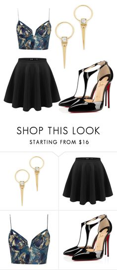 """""""Untitled #619"""" by sammi-mo ❤ liked on Polyvore featuring Alexis Bittar, Zimmermann and Christian Louboutin"""