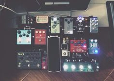 Ryan Anthony's pedal board.