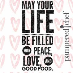 Pampered Chef - Peace, Love & Good Food!