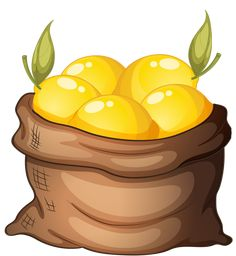 Buy Sack of Lemon by interactimages on GraphicRiver. Illustration of a sack of lemon on a white background Fruit And Veg, Fruits And Veggies, Coffee Grain, Food Clipart, Pics Art, Candy Apples, Recipe Cards, Easy Drawings, Food Art