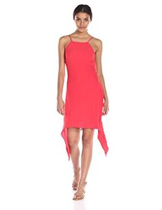 MINKPINK Womens Blown Away Midi Dress Red Medium *** Check out this great product.