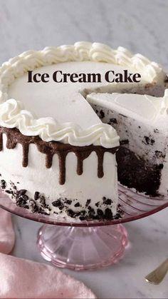 Sorbet, Baking Science, Parfait, Cake Recipes, Dessert Recipes, Homemade Birthday Cakes, Cake Decorating Videos, Ice Cream Treats, Just Cakes