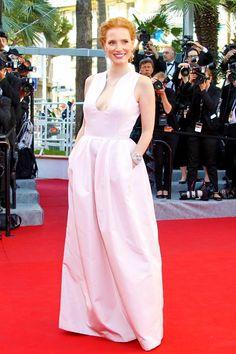 Jessica Chasthain in Alexander McQueen    Cannes 2012