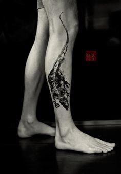 Dragon Like - artwork and tattoo by Olivia - www.tattootemple.hk