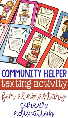 Perfect Career Education Classroom Guidance Lesson: Community Helper Daily Tasks