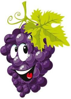 Grapes free to use clip art 2 L'art Du Fruit, Fruit Art, Fruit And Veg, Vegetable Cartoon, Fruit Clipart, Funny Fruit, Clip Art, Food Humor, Cartoon Drawings
