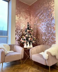 """Solaair Sequin Walls on Instagram: """"Powder 40 sequin installation in an office space. Sequin perfectly will bring to life any boring corner or a wall. You can create a…"""""""