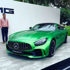 """""""From Green Hell, comes a beast: The AMG GT R"""" - @motortrend #MontereyCarWeek #PebbleBeach #Quail2016 #Mercedes #AMG #GTR"""