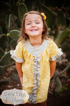 INSTANT DOWNLOAD- Bailey Dress (Sizes 12/18 months to Size 8) PDF Sewing Pattern and Tutorial di sewsweetpatterns su Etsy https://www.etsy.com/it/listing/113986606/instant-download-bailey-dress-sizes-1218