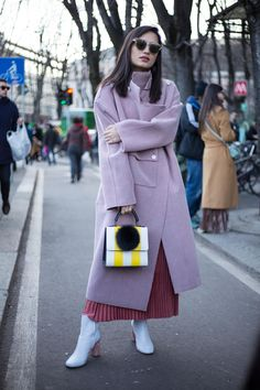 On the street at Milan Fashion Week. Photo: Chiara Marina Grioni/Fashionista.