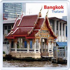 $3.29 - Acrylic Fridge Magnet: Thailand. Bangkok. City View