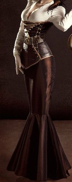 Brown Corset Dress