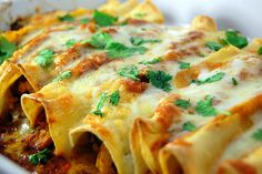chicken enchiladas w/red chile sauce