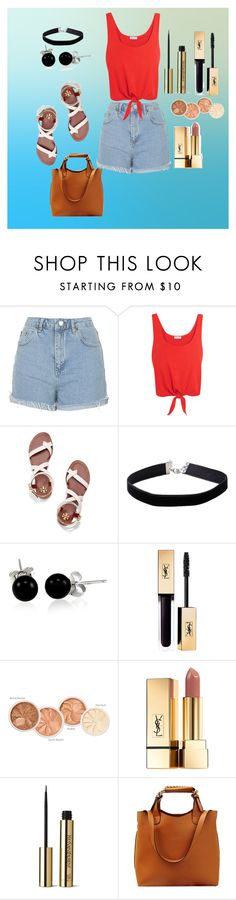 """Untitled #113"" by jomstyle on Polyvore featuring Topshop, Splendid, Tory Burch, Miss Selfridge, Bling Jewelry and Yves Saint Laurent"