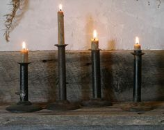 Antique candle holders
