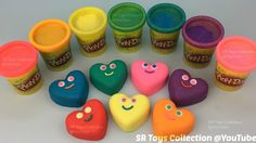 Play Doh Sparkle Compound Collection Smiley Hearts with Angry Birds Mold...
