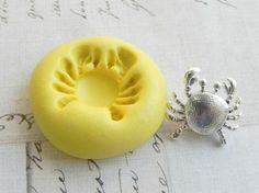 CRAB (small) - Flexible Silicone Mold - Push Mold, Jewelry Mold, Polymer Clay Mold, Resin Mold, Craft Mold, Food Mold, PMC Mold