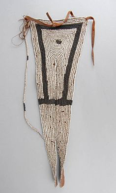 Apron made of glass beads on leather backing, of 'swallowtail' form. Xhosa, British Museum, African Art, Glass Beads, Apron, Detail, Leather, Collection, Crystal Beads
