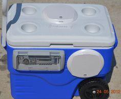 Amazon.com  Radio Ice Chest _ Beach Boombox _ Waterproof Stereo _ Ice Chest Radio - MAIN