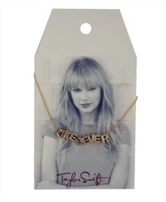 "It's so stupid, but I totally want it.  Taylor Swift Gold ""Like Ever"" Necklace : Jewelry Line"