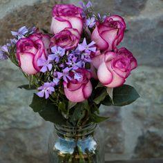 pretty bouquet - lilac and fuschia