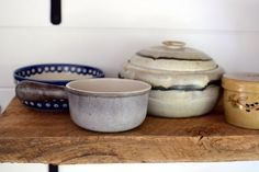 We live 3191 Miles Apart in Portland, Maine and Portland, Oregon. Earthenware, Stoneware, Kitchen Shelves, Wabi Sabi, Rustic Kitchen, Earthy, Pottery, Clay, Dishes