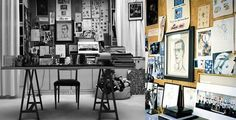 Yves Saint Laurent, fashion designer. | 40 Inspiring Workspaces Of The Famously Creative