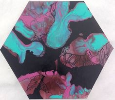 SYNAPSE / Home Decor / Art / Original Painting / Flowers / Geometry by WHLdesigns on Etsy