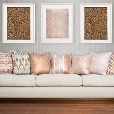 Bandhini Home Paths Copper Throw Pillow #zincdoor