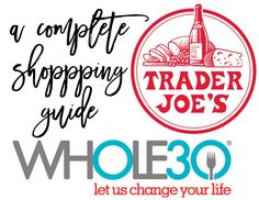 trader joes and whole 30 shopping guide