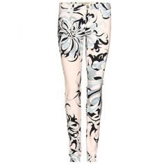 Emilio Pucci Graphic Print Jeans ($573) ❤ liked on Polyvore