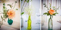 DIY flower centerpieces by rmdigitalphoto.com New York wedding photography